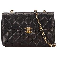 Chanel Black Mini Matelasse Lambskin Leather Bag