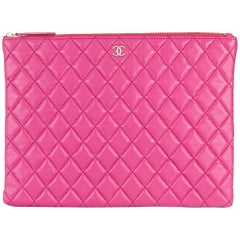 Chanel Large Quilted Clutch Bag