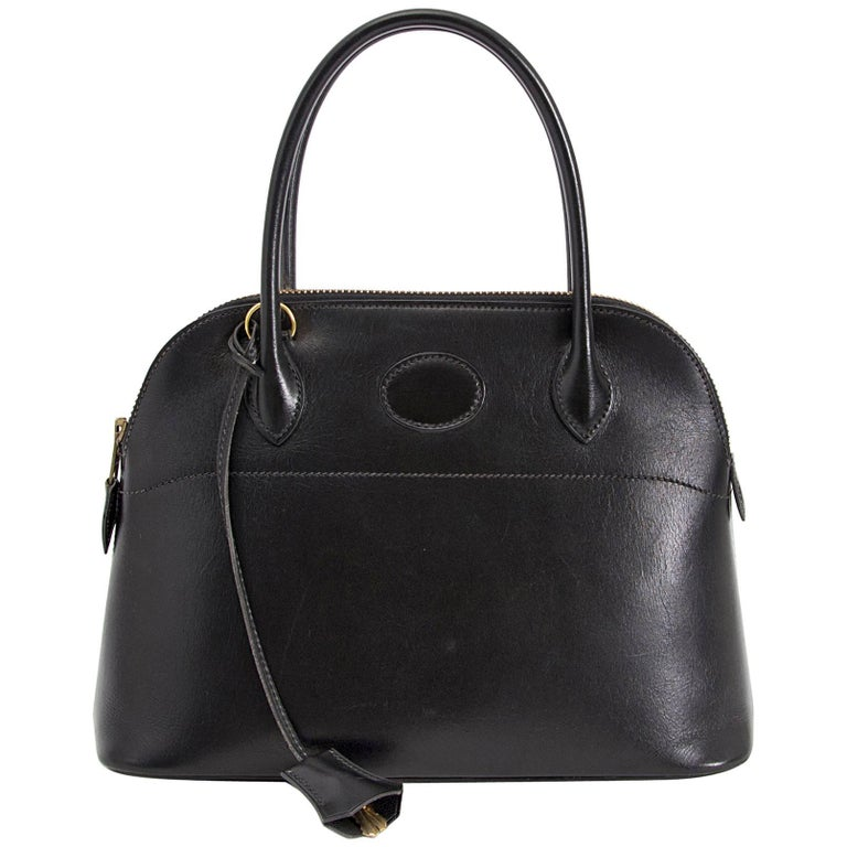Hermes Black Boxcalf Bolide 27 Bag For Sale