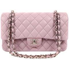 Chanel Lilac Lambskin Medium Double Flap Classic
