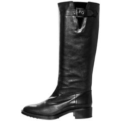 Tod's Black Leather Boots Sz 38 with DB