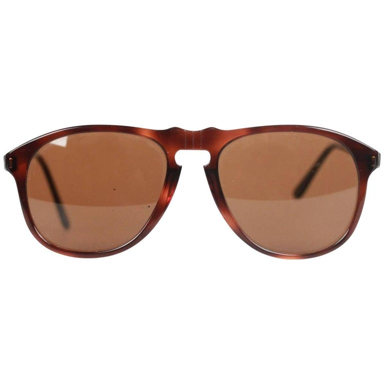08cb07a396 PERSOL RATTI Vintage Brown Legendary SUNGLASSES 049 4 94 56mm NOS For Sale  at 1stdibs