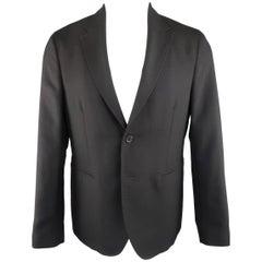Raf Simons Men's 40 Navy Wool Half Lined Notch Lapel 2 Button Sport Coat