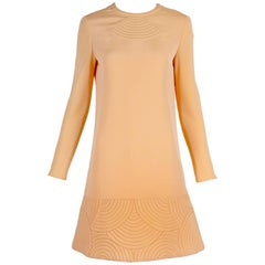 1970s Pierre Cardin Mod Space Age Mini Dress with Geometric Design