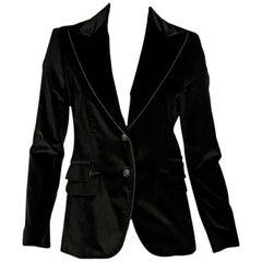 Brown Dolce & Gabbana Velvet Blazer