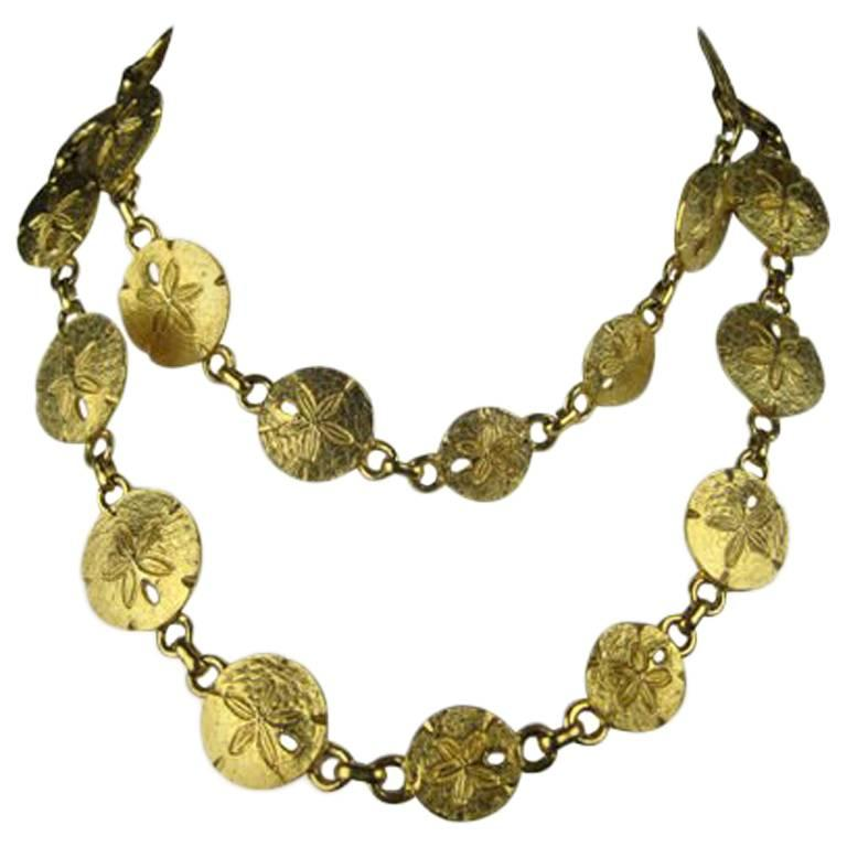 1970's Mimi Di N Sand Dollar Belt or Necklace For Sale