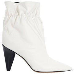 White Derek Lam Leather Carmen Ankle Boots
