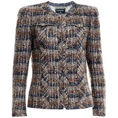 Amazing Chanel Metallic Multicolor Lesage Tweed Jacket Blazer