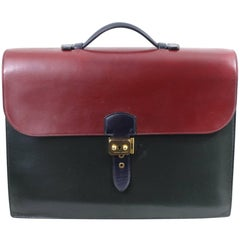 Hermes Vintage Sac a depeches in 3 Color Box Leather