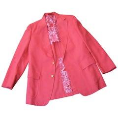 Lilly Pulitzer Men's Coral Pink Resort Sports Jacket circa 1970s