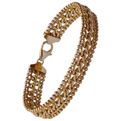 Milor Italian Gold Link Bracelet