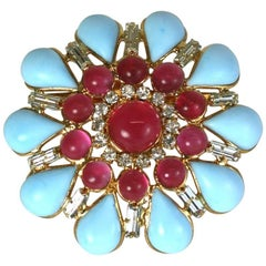 MWLC Poured Glass Zaza Brooch