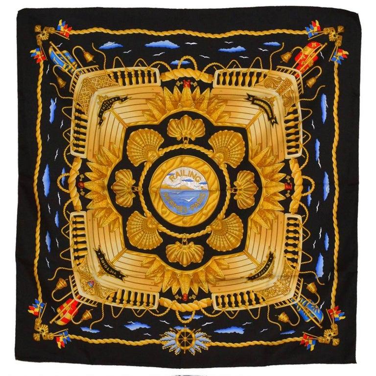 Hermes Railing Silk Scarf