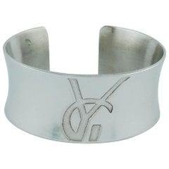 Yves Saint Laurent YSL Vintage Sterling Silver Cuff Bracelet