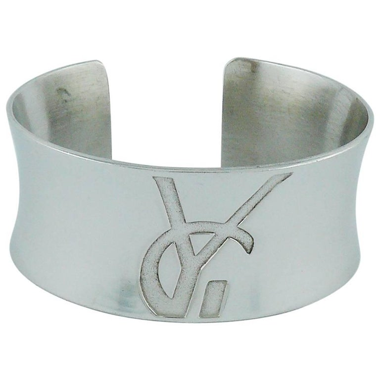 034c77d045739a Yves Saint Laurent YSL Vintage Sterling Silver Cuff Bracelet For Sale