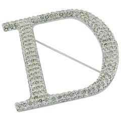 Christian Dior Diamante D Brooch