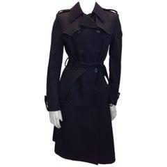 Balenciaga Black Wool Trench Coat