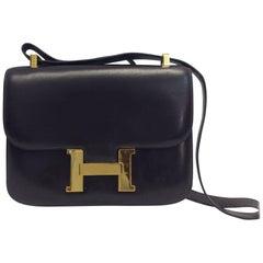 Hermes Vintage Brown Box Constance Crossbody Bag