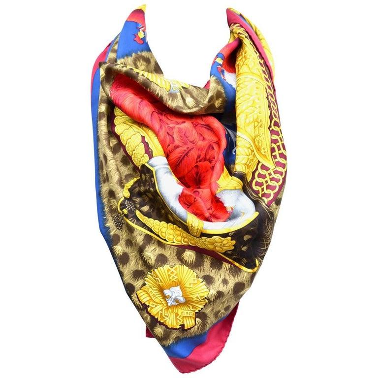 "Hermes ""Casques et Plumets"" Royal Guard Silk Scarf"