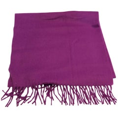 Hermes Purple Cashmere Scarf