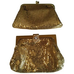 1960s Whiting & Davis Clutch and Coin Purse