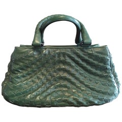 Bottega Veneta Irish Green Intrecciato Nappa Leather Handbag, 2008