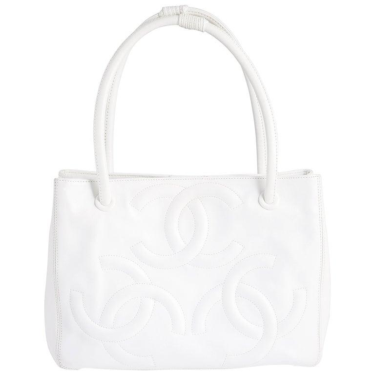 Chanel White Tote Bag  1