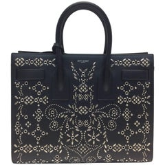 Yves Saint Laurent Bandana Studded Sac De Jour Leather Bag