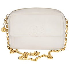 Chanel White Caviar Camera Bag