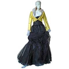 Christian Lacroix 1999 Haute Couture Runway Jacket Blouse Ball Skirt, Corset