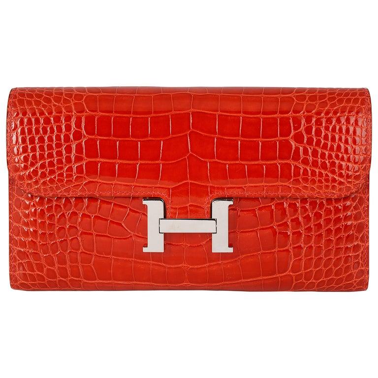 Hermes Geranium Red Constance Wallet