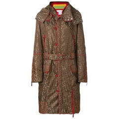 2004 Christian Dior by John Galliano logo pattern hooded coat