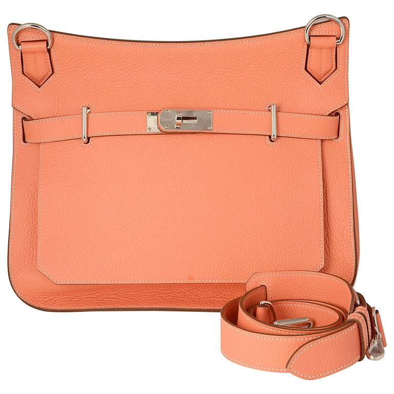 Hermes Jypsiere Crevette 34 Clemence Leather Bag
