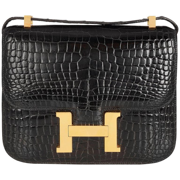 Hermes Black Crocodile Constance Bag