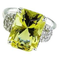 Golden Beryl in Sterling Silver Ring