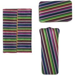 1950's Three Striped Cases for Handbag Accessories