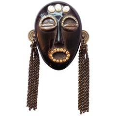 Missoni African Mask Brooch Pin collection  1991