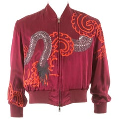 Tom Ford for Gucci Spring-Summer 2001 unisex reversible embroidered silk jacket