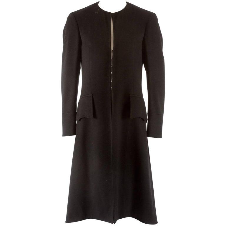 Gucci Autumn-Winter 2006 Men's black wool evening coat