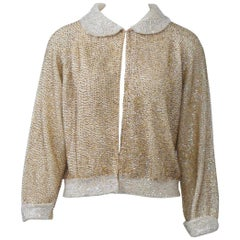 Gold Sequined Cardigan