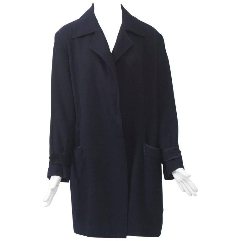 Yohji Yamamoto Navy Jacket For Sale