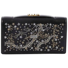 Christian Dior Tarot Pouch Embroidered Leather