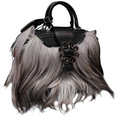 2012-2013 Louis Vuitton leather and goat hand bag, Transsiberian Fall Collection