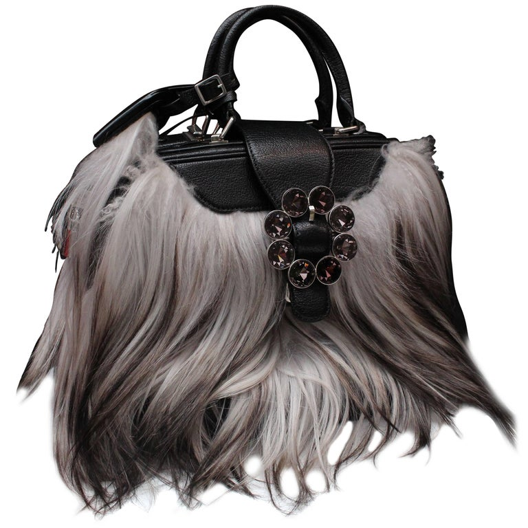 Louis Vuitton Transsiberian Fall Collection leather and goat hand bag, 2012-2013