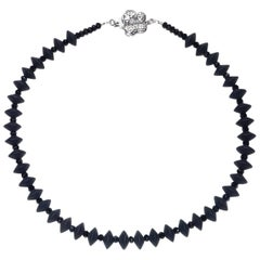 Black Onyx and Black Spinel Choker Necklace