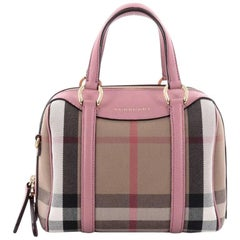 Burberry Alchester Convertible Satchel House Check Canvas Small