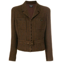 Chanel Checked Belted Jacket