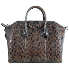 Givenchy Brown Python Antigona Medium Bag