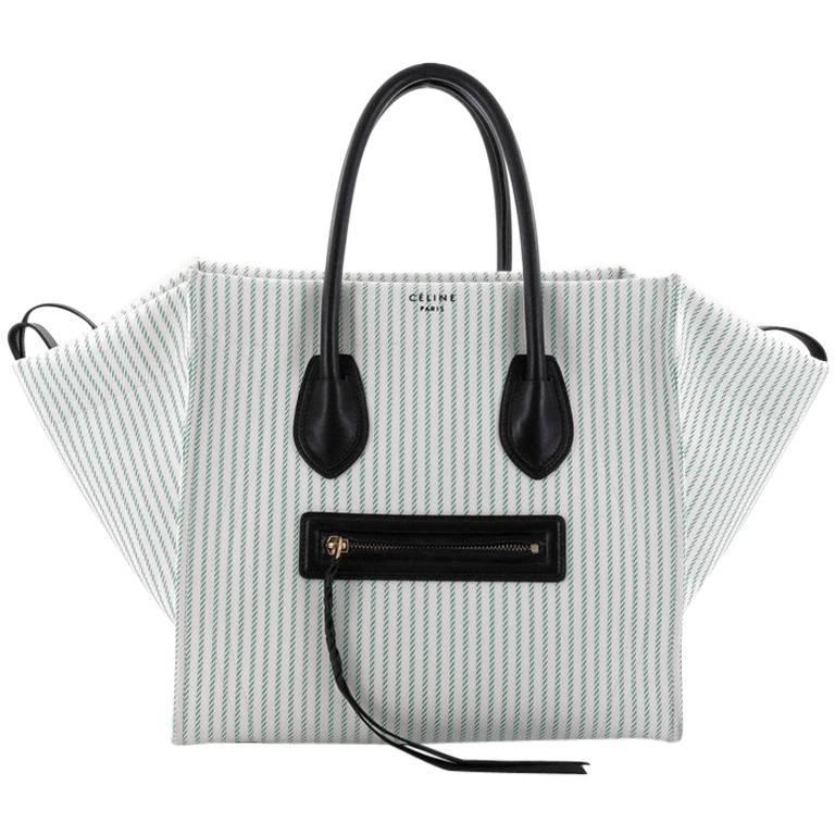 Celine Phantom Handbag Striped Canvas and Leather Medium at 1stdibs 31b6988d674d2