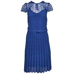 Ralph Lauren Blue Crochet Dress Sz US2